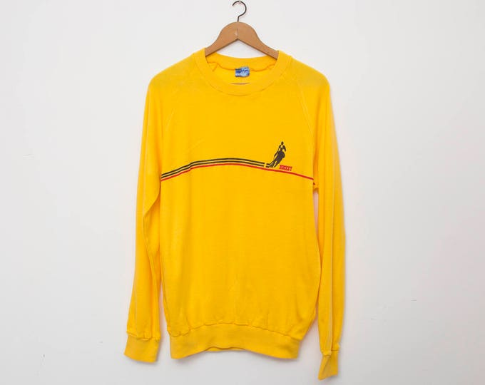 sweater sport vintage deadstock yellow