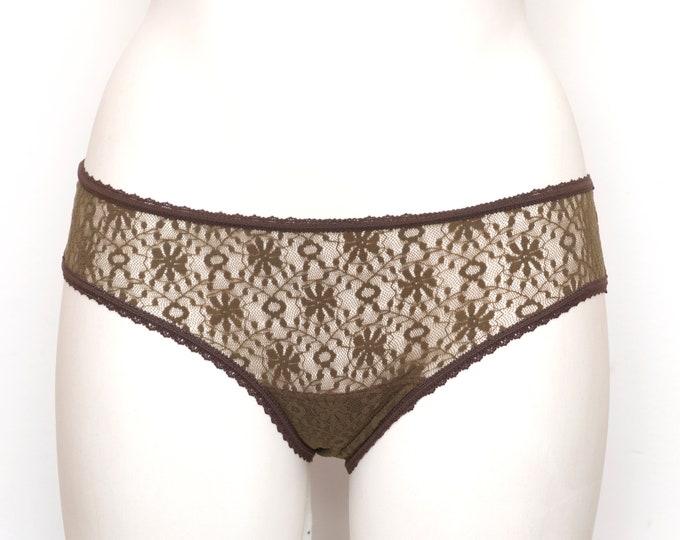 vintage sheer brown panties dead stock Vintage