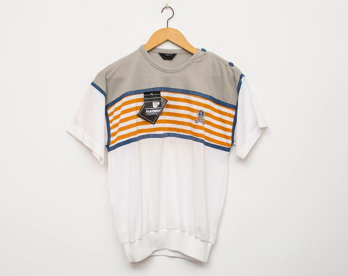 NOS vintage 80s tshirt nautical
