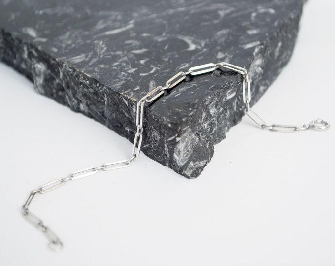 Vintage silver  chain bracelet  deadstock jewelry
