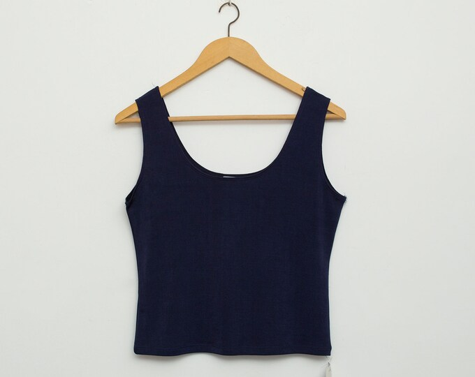 NOS vintage navy blue tank top