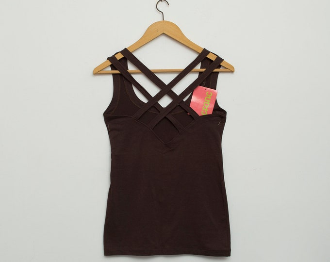 Dead Stock vintage vest in dark brown