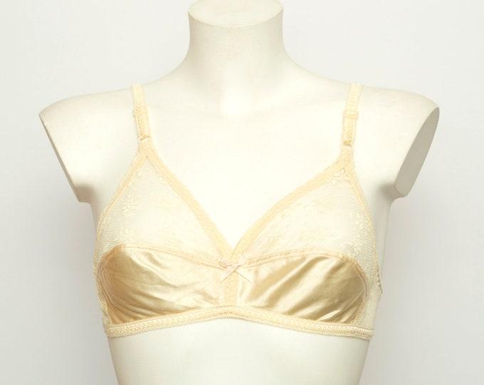 vintage bra triangle bra deadstock lingerie