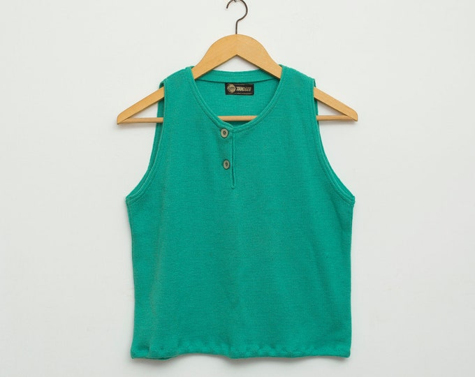 NOS vintage green knit top