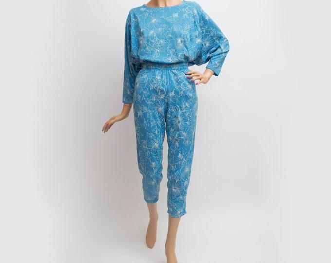 NOS Vintage floral 90's pants trousers loungepants