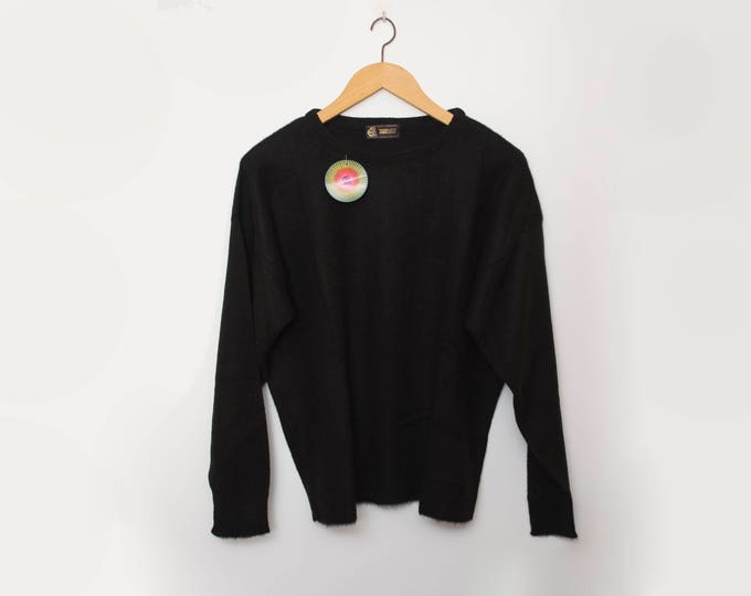 Vintage 90s black sweater deadstock