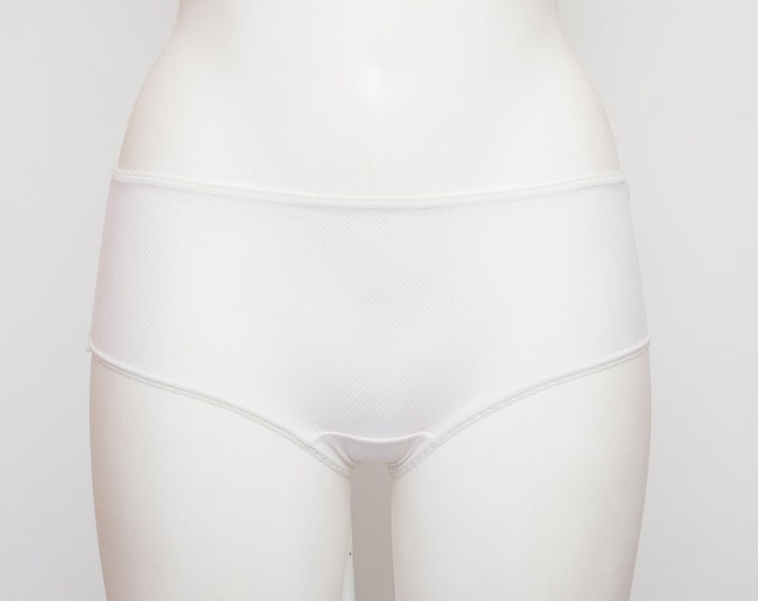 panties white sheer dead stock Vintage 70s