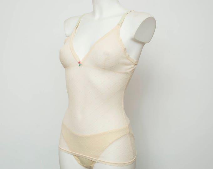 NOS Vintage tank nude sheer underwear dead stock Vintage