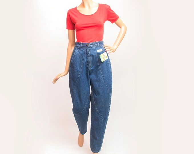 NOS Vintage 90 blue jeans high waist jeans slouchy fit