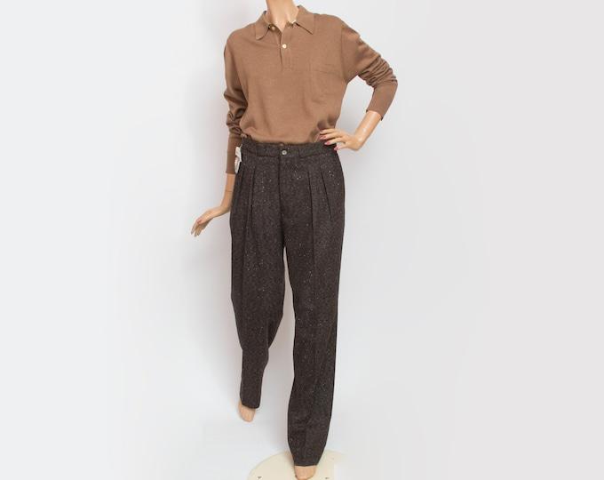 NOS Vintage wooly brown speckled pants
