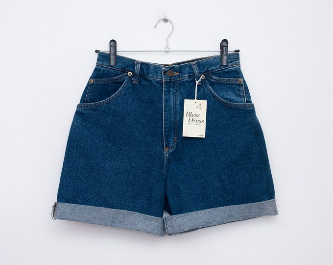 80s Dead stock Vintage Denim Shorts high waist