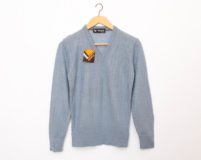 sweater vintage deadtock sweater grey