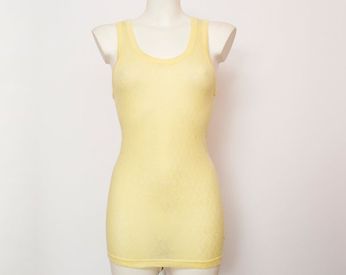 NOS Vintage tank yellow underwear dead stock Vintage