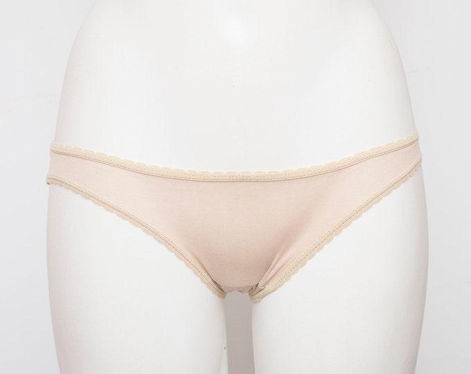 low rise panties dead stock Vintage 70s beige