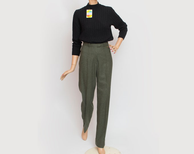 NOS Vintage wool green trousers