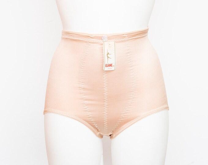 high waist panties girdle nude dead stock Vintage