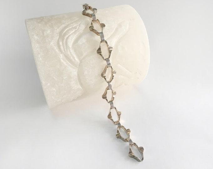 Vintage silver bracelet  chain deadstock