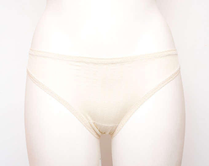 low waist panties  Beige dead stock Vintage 70s