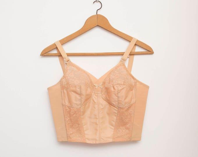 Nude long line bra lace dead stock Vintage