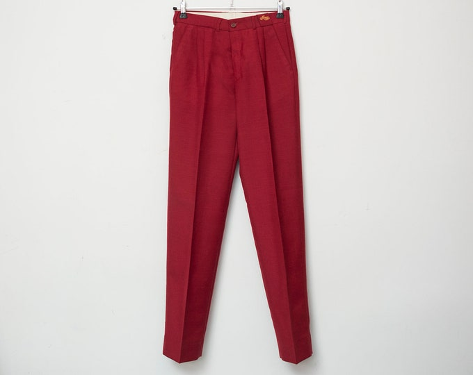 Vintage maroon pants trousers deadstock vintage