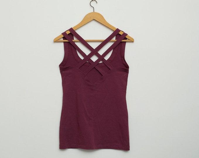 vintage vest in dark purple dead stock