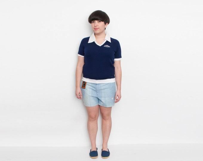 NOS Vintage sport Shorts light blue washed denim size L