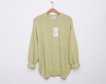 oversized sweater 90s NOS vintage lime green oversized sweater