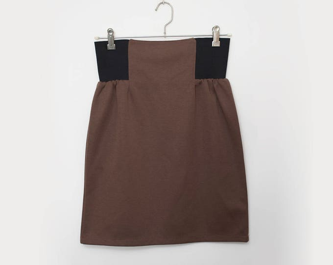 high waist brown tube Skirt NOS Vintage size M