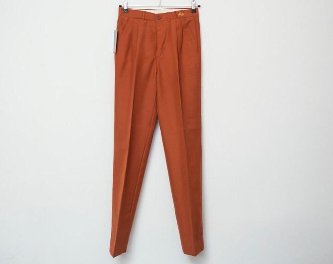 Vintage dark orange pants trousers deadstock vintage