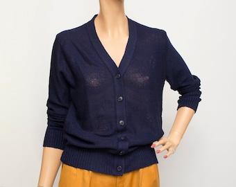 Sweater blue Vneck deadstock vintage