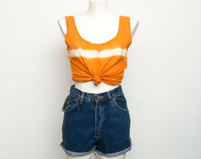 vintage orange tie dye top deadstock