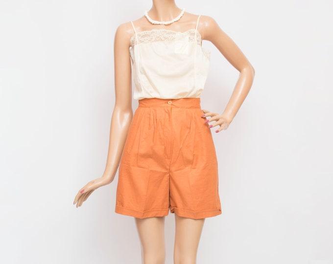Vintage Bermuda Shorts high waist cotton Dead stock 90s