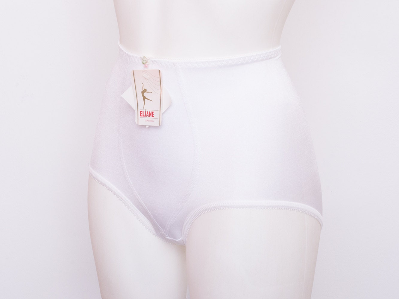 4101a7a85 high waist panties girdle white dead stock Vintage size XS. gallery photo  ...