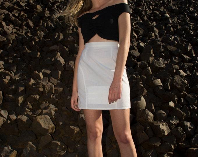 skirt whiteDead stock vintage Size S