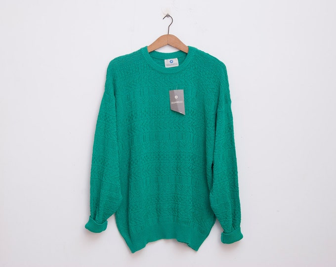 oversized sweater 90s NOS vintage green oversized sweater