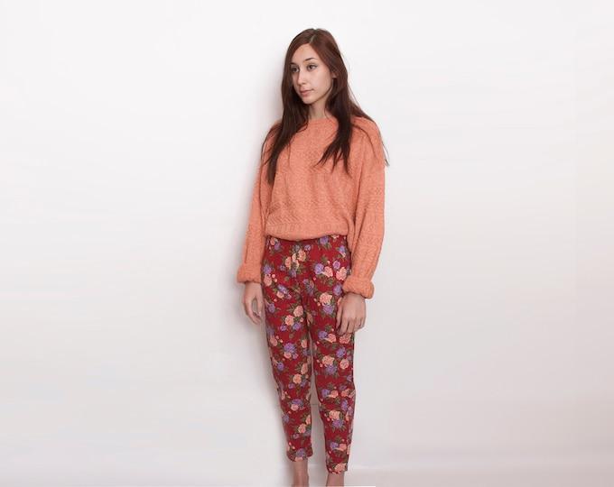 NOS Vintage floral 90's leggings pants trousers