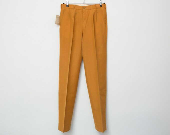 NOS Vintage 70's mustard pants trousers