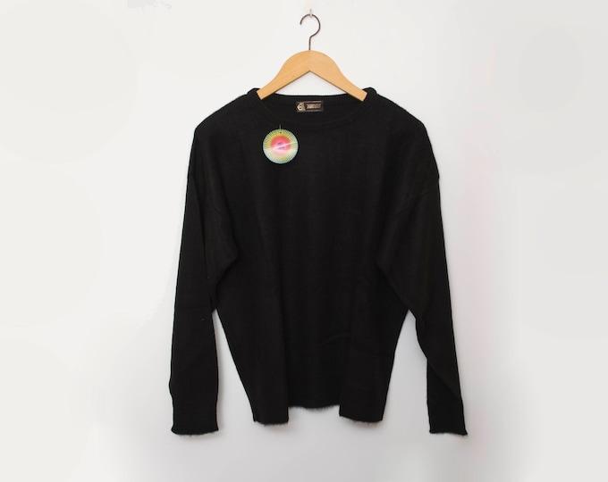 Vintage 90s black sweater deadstock