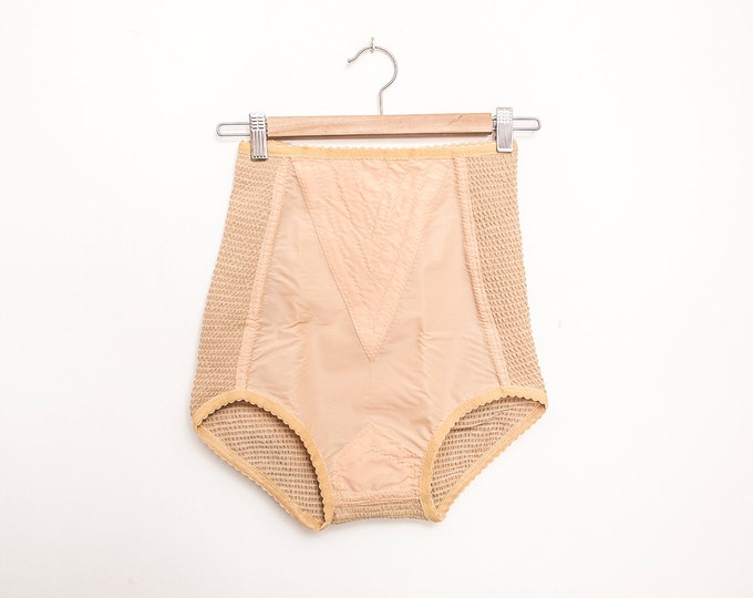 high waist panties girdle nude bombshell dead stock Vintage lingerie