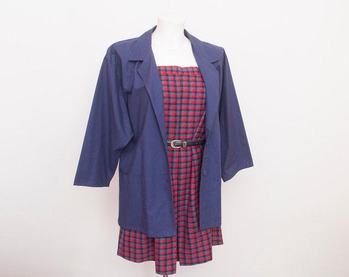 80s NOS vintage  jacket navy blue