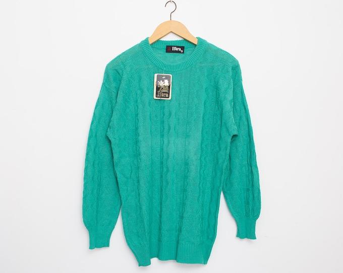 sweater green deadstock oversized sweater