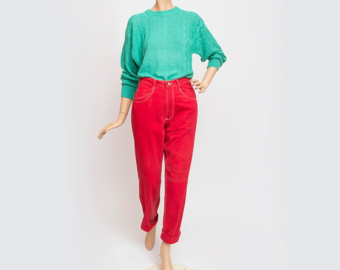 NOS Vintage 90's red jeans pants trousers size W26