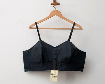 1940 black bullet bra bombshell dead stock Vintage lingerie