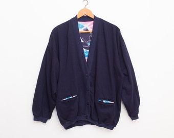 90s oversized cardigan sweater vintage deadstock