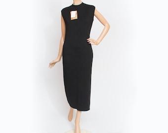 Vintage wool black dress deadstock