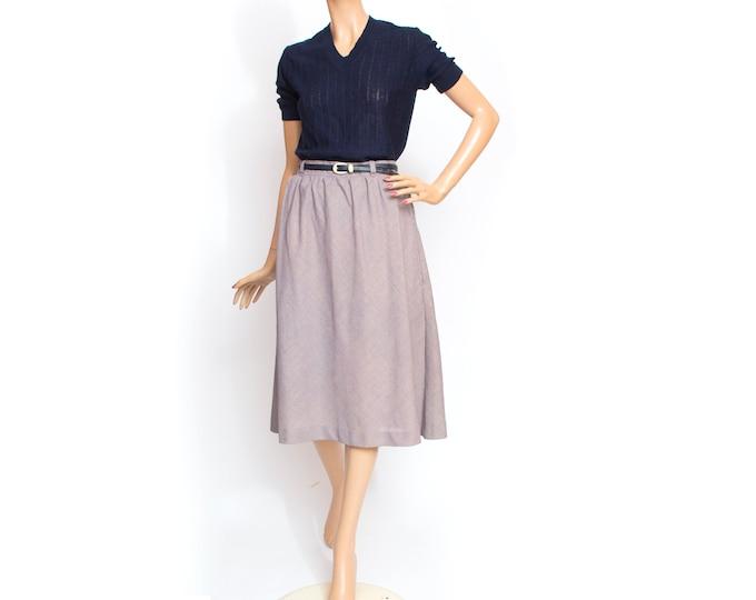 Vintage Skirt dead stock  blue yellow pink tweed