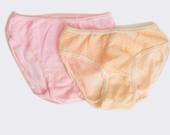 Vintage panties pack of 2 deadstock bikini panties blue and white floral