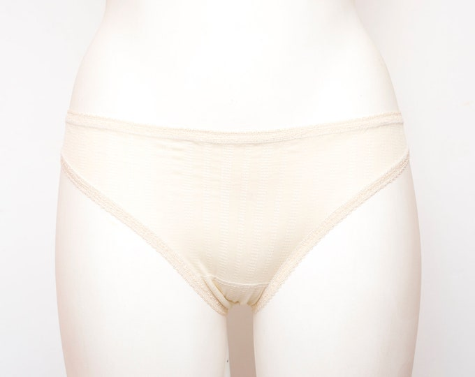 low waist panties  Beige dead stock Vintage 70s