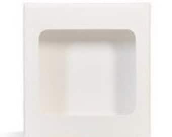 25 White Lip Balm Boxes- Holds 4 Lip Balms