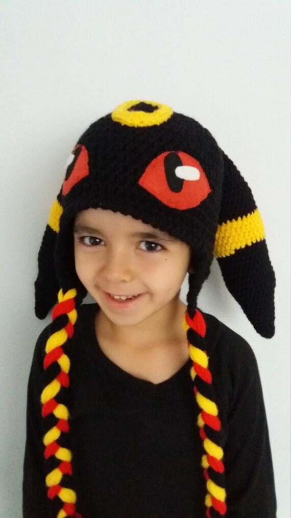 7c38cfbc112 Umbreon inspired crochet hatUmbreon Hat Pokemon Go